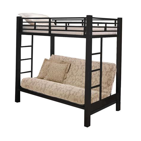 sized bunk beds home source size bunk bed sleeper by oj commerce 13017silver 614 99