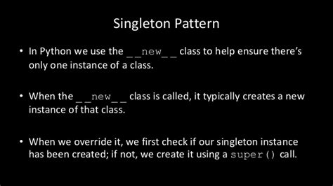 singleton design pattern in c net with exle python singleton pattern