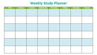 plan of the week template studyclix