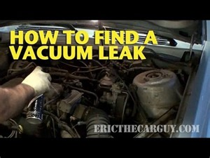what is a vaccum leak how to find a vacuum leak ericthecarguy