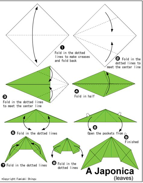 making origami leaves camellia japonica easy origami instructions for kids