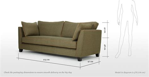 couch size 3 seat sofa dimensions thesofa