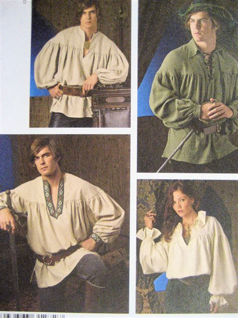 pattern for renaissance shirt simplicity 3519 mens renaissance peasant shirt reenactment
