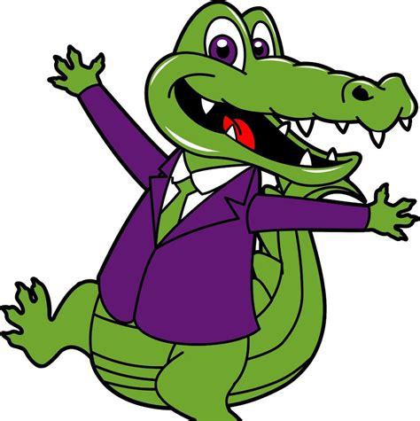 Crocodile Purple alligator clipart purple pencil and in color alligator