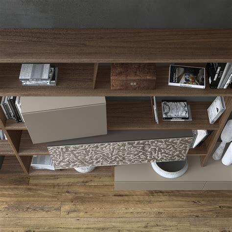 presotto industrie mobili parete attrezzata componibile fissata a muro in legno