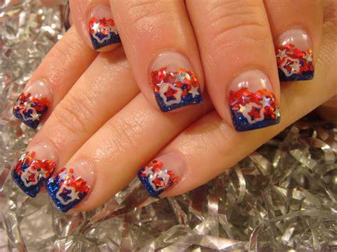 red acrylic 4th of july nils july acrylic nails nails acrylic