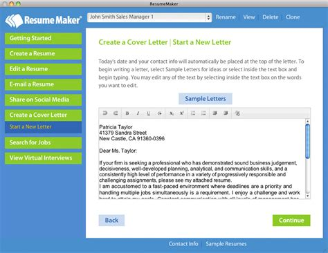 Free Resume Maker by Home Resumemaker For Mac