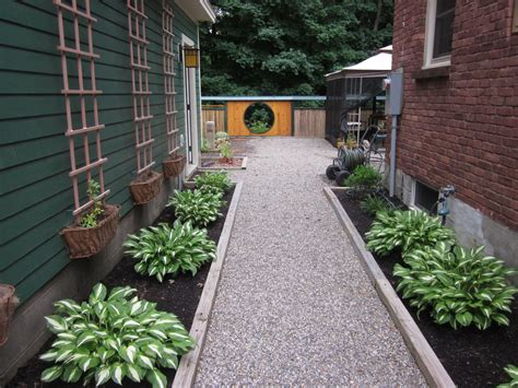 Landscape Ideas Between Houses My Zen Garden The White Gravel