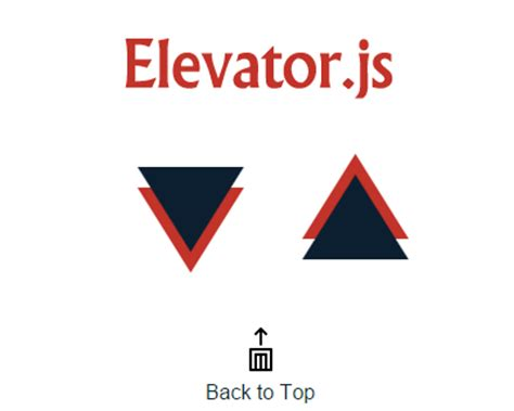 elevator.js – back to top button that behaves like real