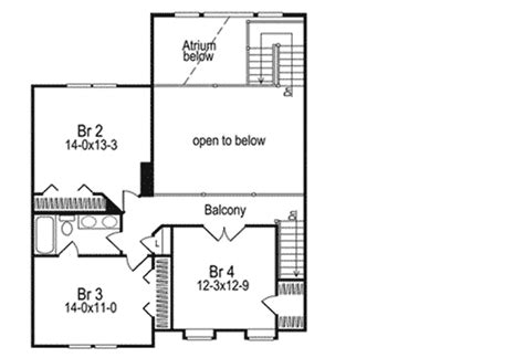 2nd floor balcony plans balcony enjoys spectacular views in atrium home 5766ha