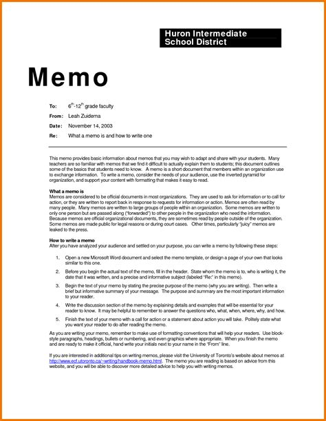6 memo format exle assistant cover letter