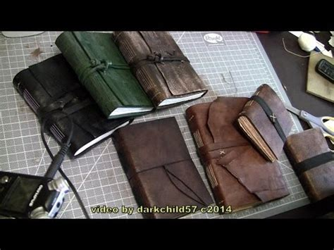 How To Make A Handmade Leather Journal - diy leather journal see description for more info