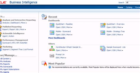 paul cannon s bi replacing the home page within obiee