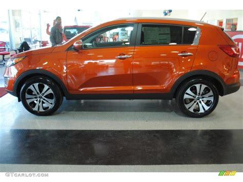 Orange Kia Sportage Techno Orange 2011 Kia Sportage Ex Exterior Photo