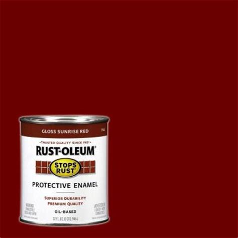 rust oleum stops rust 1 qt gloss protective enamel of 2 7762502 the home depot