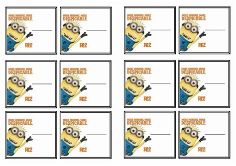 free printable christmas minions address labels free printable despicable me themed name tags i did it
