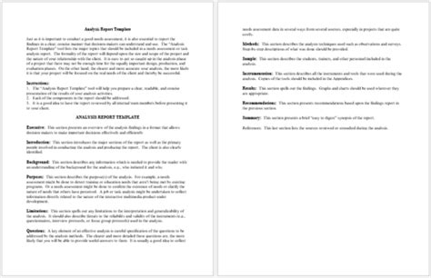 Data Analysis Report Template 7 Formats For Ppt Pdf Word Report Template Word