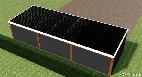 schuur zonnepanelen morrensolar uw maatwerk fabrikant van constructies met