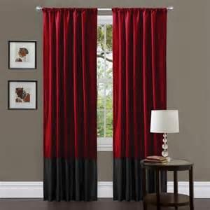 Lush decor red black milione fiori 84 inch curtain panel pair free