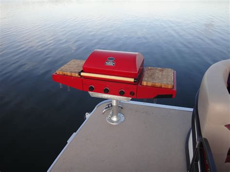 bbq grill for pontoon boat custom made pontoon boat lp bbq grill cooker by rbdthree