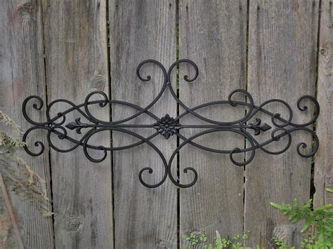 Large Tuscan Wrought Iron Metal Wall Decor Rustic Antique