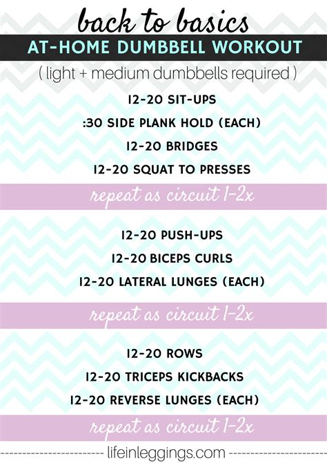 back to basics at home dumbbell workout in