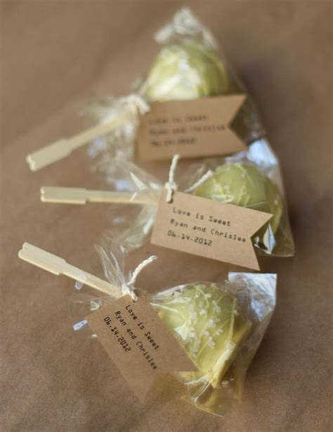 edible bridal shower favors 50 ecofriendly edible wedding favors the original by lespopsweets 120 00