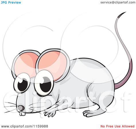 cartoon of a cute gray mouse royalty free vector clipart