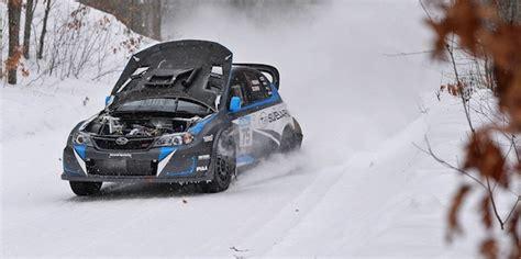subaru drift snow 2014 subaru wrx sti leads sno drift despite big