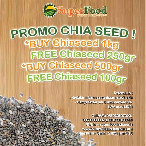 Chia Seed 500 Gr promo organik black chiaseed 500 gr gratis 100 gr