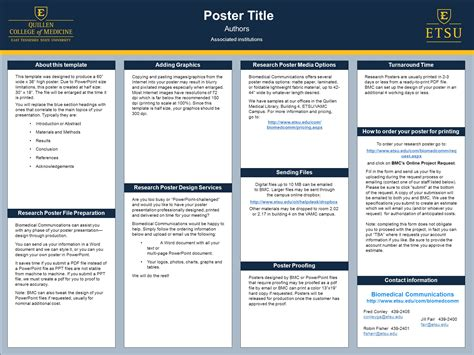 Poster Title Authors Biomedical Communications About This Mast Powerpoint Poster Template
