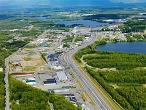 Oversized Wall Art aerial view of downtown wasilla alaska usa photographic