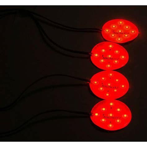 red led puck light aqualitz britedisc low profile led puck lighting red