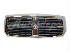 2005 2006 2007 dodge dakota grille chrome black