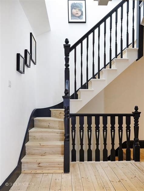 17 best ideas about black banister on painted