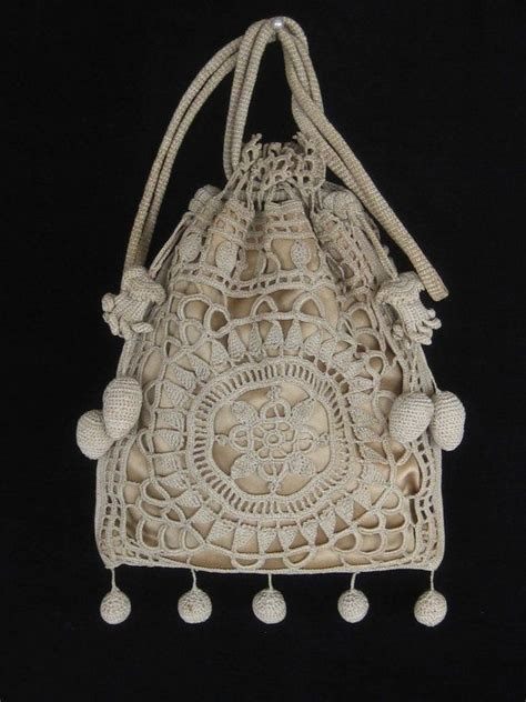 pattern crochet reticule vintage crocheted purse reticule beautiful crocheted