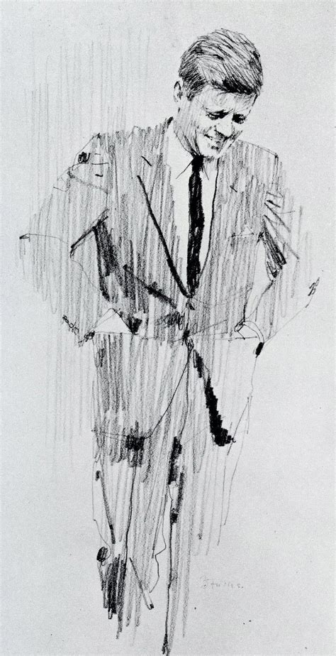 F Drawing Pencil by Drawing F Kennedy By Bernie Fuchs My