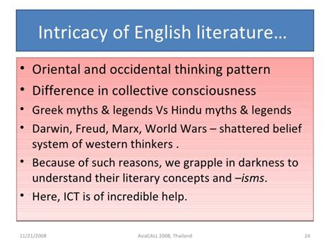 thought pattern thesaurus experimenting ict in english language and literature
