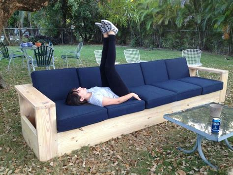 diy outdoor couch plans 25 best ideas about diy couch on pinterest diy sofa