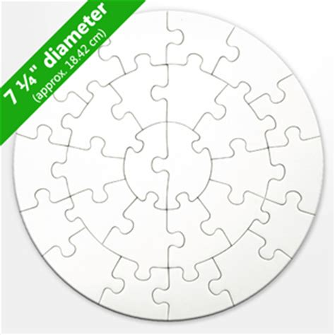 Blank Round Puzzle 26 Pieces Circular Jigsaw Puzzles