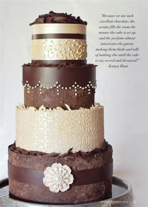 Chocolate Wedding Cake Images by 25 Best Ideas About Chocolate Wedding Cakes On