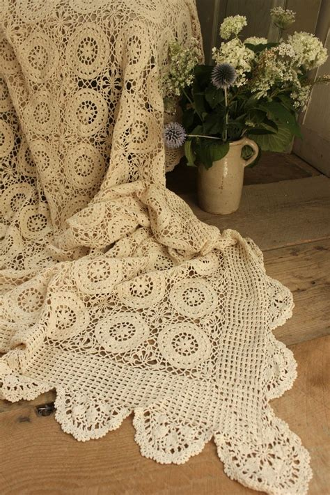 lace coverlet bedding vintage french lace crochet coverlet gorgeous