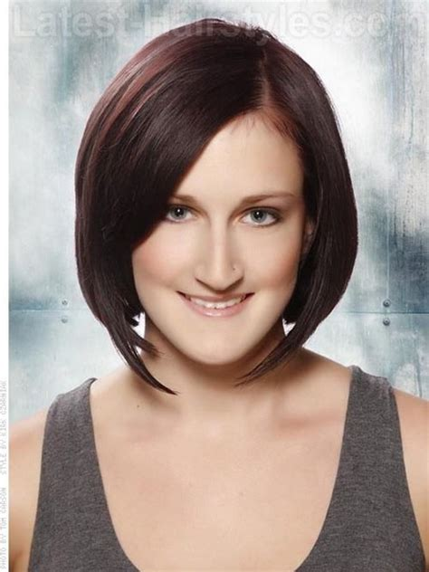 brunette hairstyles oval faces short haircuts for oval faces