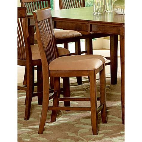 montreal 24 quot wood counter chairs microfiber seat dcg
