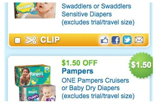 free printable pampers diaper coupons