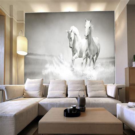 horse wallpaper for bedrooms horses custom mural wallpaper free shipping worldwide