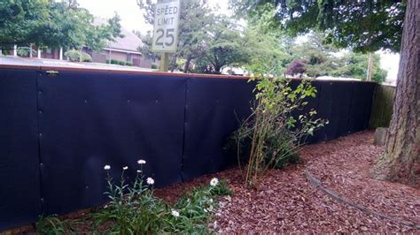 backyard sound barriers acoustifence outdoor noise barrier quiets residential