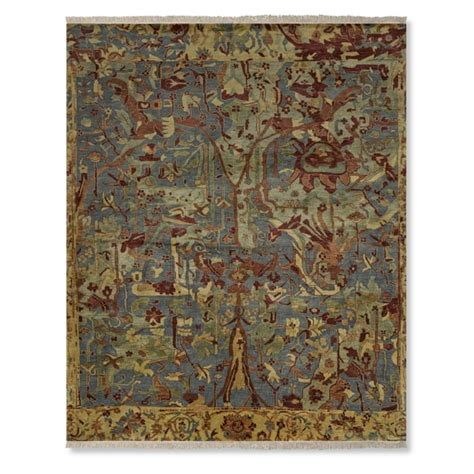 silk road rugs silk road knotted rug williams sonoma
