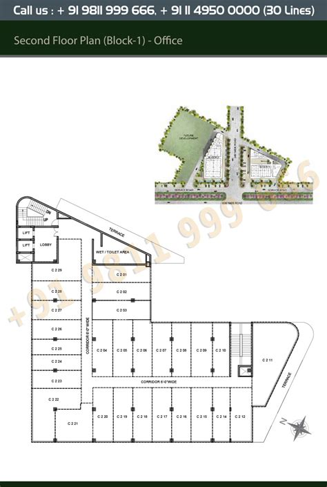 office block floor plans layout plan m3m tee point
