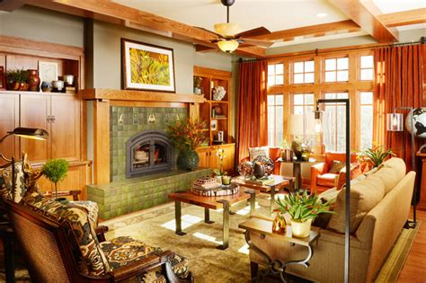 arts and crafts style home decor timberwood craftsman livingroom remodel craftsman